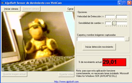 AjpdSoft Sensor de Movimiento con WebCam