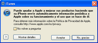 AjpdSoft Registro para obtener IP Apple, conexión iPhone a PC y sincronizar datos desde iTunes