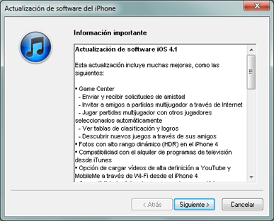 AjpdSoft Actualizar el software del iPhone iOS con iTunes