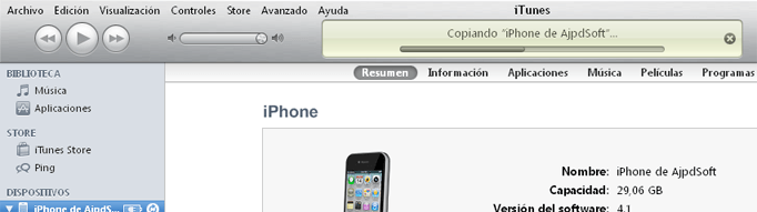 AjpdSoft Copia de seguridad (backup) de los datos del iPhone con iTunes