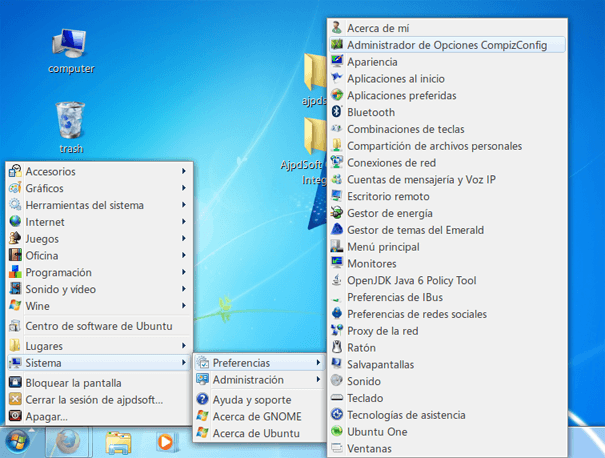 Transformar el tema visual de Linux en el de Windows 7