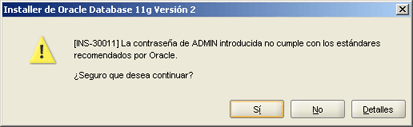 Instalar Oracle Database 11g Release 2 Enterprise Edition 64bits en Microsoft Windows Server 2003 R2 Enterprise x64 Edition en modo Clase de Escritorio
