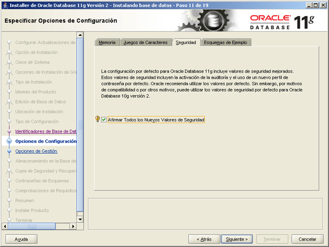 Instalar Oracle Database 11g Release 2 Enterprise Edition 64bits en Microsoft Windows Server 2003 R2 Enterprise x64 Edition en modo Clase de Servidor